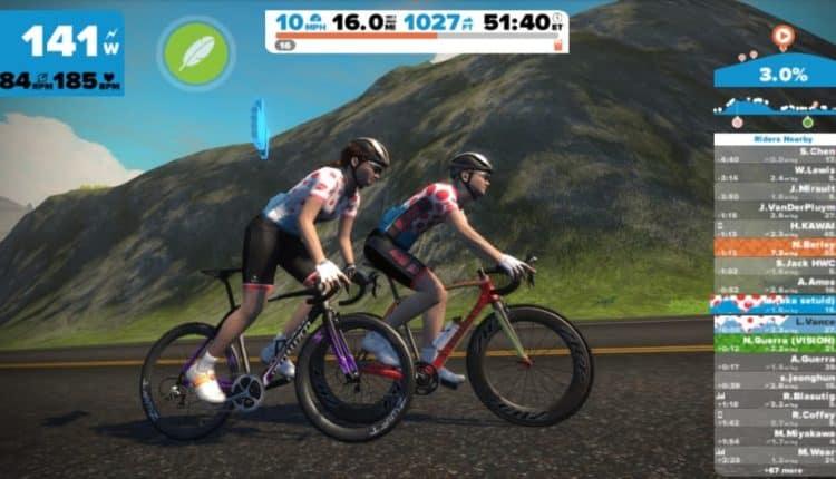 Zwift bike montagne