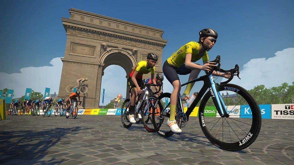 Zwift tour de France virtuel
