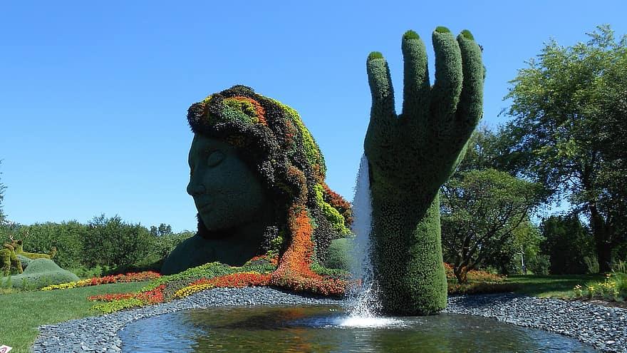 jardin botanique Montréal sculpture végétale